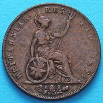 Великобритания 1/2 пенни 1826 год.