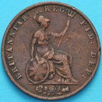 Великобритания 1/2 пенни 1855 год.