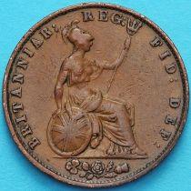 Великобритания 1/2 пенни 1856 год.