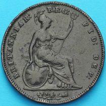 Великобритания 1 пенни 1854 год.