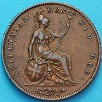 Великобритания 1 пенни 1858 год.