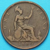 Великобритания 1 пенни 1880 год.