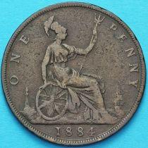 Великобритания 1 пенни 1884 год.