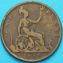 Великобритания 1 пенни 1885 год.