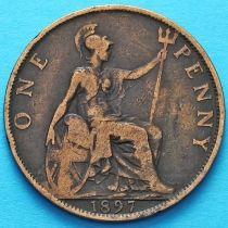 Великобритания 1 пенни 1897 год.