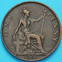Великобритания 1 пенни 1901 год.