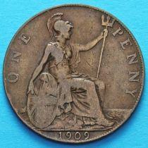 Великобритания 1 пенни 1909 год.
