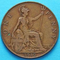 Великобритания 1 пенни 1910 год.