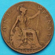 Великобритания 1 пенни 1911 год.