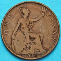 Великобритания 1 пенни 1914 год.