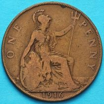 Великобритания 1 пенни 1916 год.