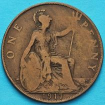Великобритания 1 пенни 1917 год.