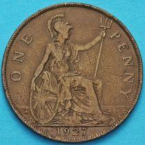 Великобритания 1 пенни 1927 год.