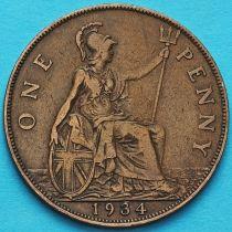 Великобритания 1 пенни 1934 год.