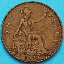Великобритания 1 пенни 1935 год.