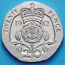 Великобритания 20 пенсов 1982 год.