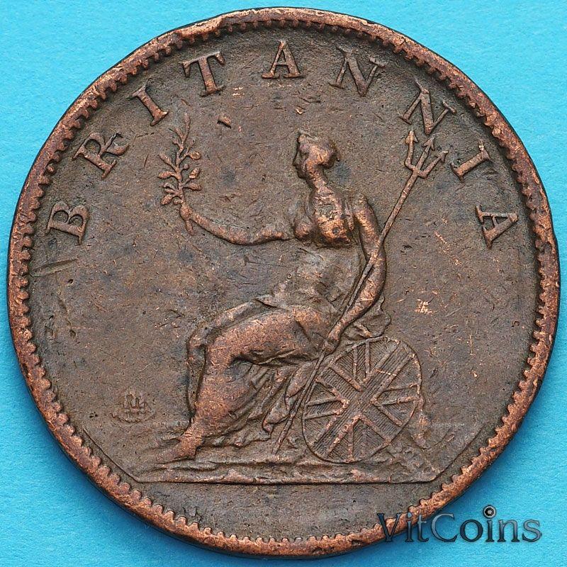 Монета Великобритании 1/2 пенни 1807 год.