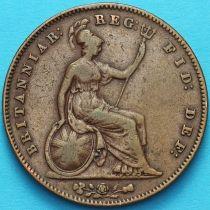Великобритания 1 пенни 1854 год. №3