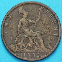 Великобритания 1 пенни 1882 год. Н.