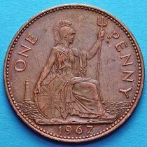 Великобритания 1 пенни 1962-1967 год.