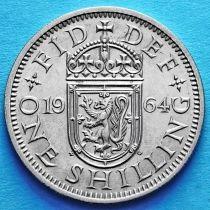Великобритания 1 шиллинг 1954-1970 год. Шотландский герб.