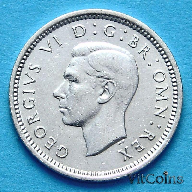 Монета Великобритании 3 пенса 1939 г.