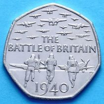 Великобритания 50 пенсов 2015 год. Битва за Британию.