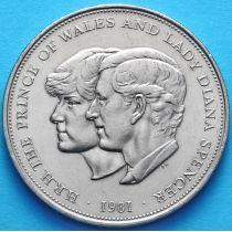 Великобритания 25 пенсов 1981 год. Свадьба Чарльза и Дианы.