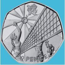 Великобритания 50 пенсов 2011 год. Олимпиада. Волейбол. Блистер