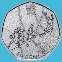 Великобритания 50 пенсов 2011 год. Олимпиада. Баскетбол. Блистер