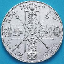 Великобритания 2 флорина (4 шиллинга) 1889 год. Серебро.