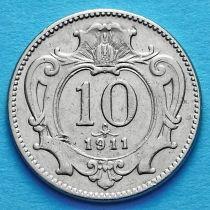 Австрия 10 геллеров 1911 год.