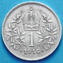 Австрия 1 крона 1916 год. Серебро.