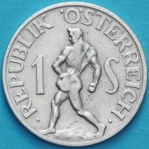 Австрия 1 шиллинг 1946-1957 год. VF