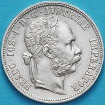 Австрия 1 флорин 1878 год. Серебро.