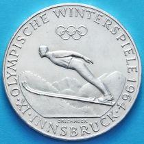 Австрия 50 шиллингов 1964 год. Олимпиада в Инсбруке. Серебро.