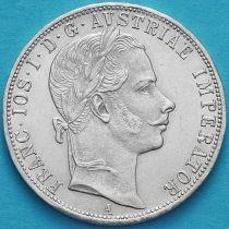 Австрия 1 флорин 1860 год. Вена. Серебро