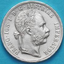 Австрия 1 флорин 1879 год. Серебро.