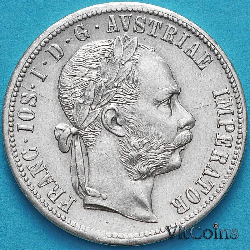 Монета Австрия 1 флорин 1879 год. Серебро №2