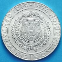 Австрия 50 шиллингов 1974 год. Австрийская полиция. Серебро.