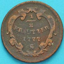 Австрия 1/2 крейцера 1777 год. S.