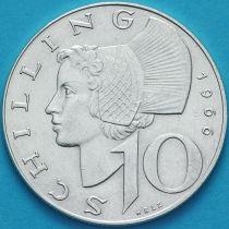 Австрия 10 шиллингов 1966 год. Серебро.№2