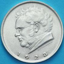 Австрия 2 шиллинга 1928 год. Франц Шуберт. Серебро.