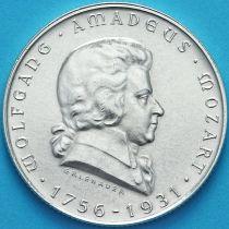 Австрия 2 шиллинга 1931 год. Вольфганг Амадей Моцарт. Серебро.