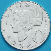 Австрия 10 шиллингов 1966 год. Серебро.№1