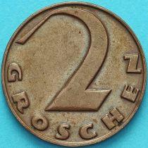 Австрия 2 гроша 1929 год.