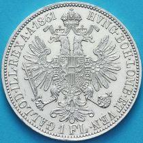 Австрия 1 флорин 1861 год. Вена. Серебро
