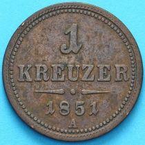 Австрия 1 крейцер 1851 год. А