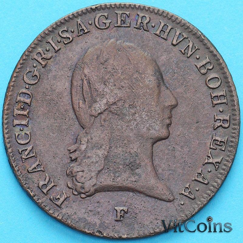 Монета  Австрия  3 крейцера 1800 год. F