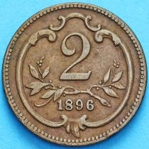 Австрия 2 геллера 1896 год.